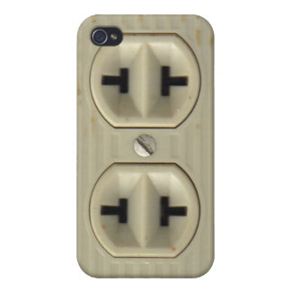 Vintage Electrical Socket iPhone 4 Cover