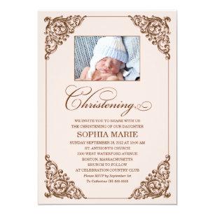 vintage christening baptism invitations zazzle co uk