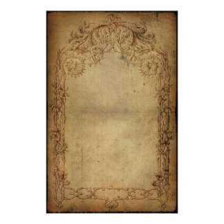 Vintage Elegance Dark 2 Personalized Stationery