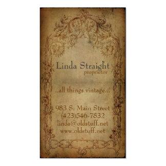 Vintage Elegance Dark Business Card Templates