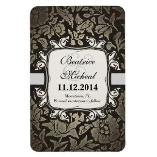 vintage elegance floral save the date magnets