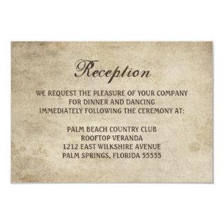 Vintage Elegance Ribbon and Lace Reception Card 9 Cm X 13 Cm Invitation Card