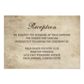 Vintage Elegance Ribbon and Lace Reception Card