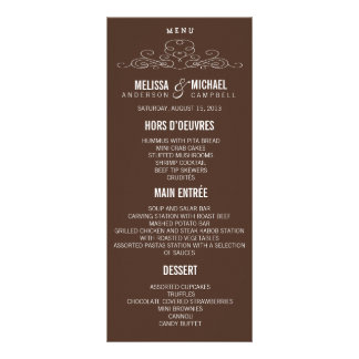 VINTAGE ELEGANCE | WEDDING MENU CUSTOMISED RACK CARD