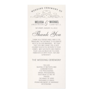 VINTAGE ELEGANCE | WEDDING PROGRAM RACK CARD