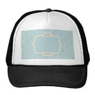 Vintage,elegant blue,damask,antique,chic,read trucker hat