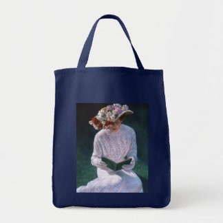 Vintage Elegant Fine Art Victorian Lady Reading Tote Bag