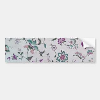 Vintage Elegant Floral Pattern Bumper Sticker