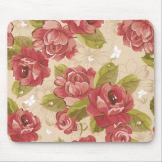 Vintage elegant floral pattern Mousepad