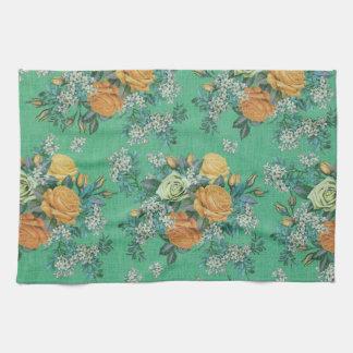 vintage elegant flowers floral Kitchen Towel