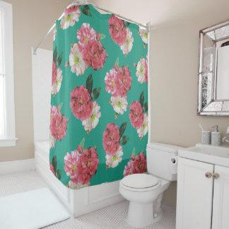 vintage elegant flowers  shower curtain