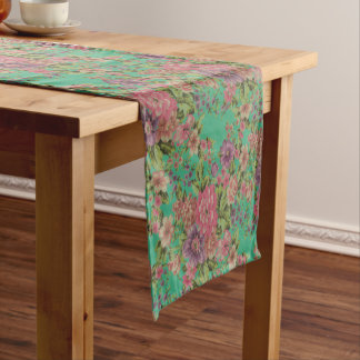 vintage elegant flowers Table Runner