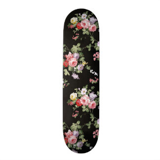 Vintage Elegant Girly Pink Red Trendy Roses Floral Skate Decks