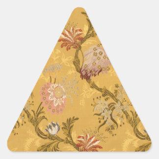 Vintage elegant  gold victorian bird pattern triangle sticker