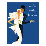 Vintage Elegant Monte Carlo Couple Dinner Party Personalized Announcement