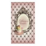 vintage elegant pink cupcakes fashion bakery Double-Sided standard business cards (Pack of 100)