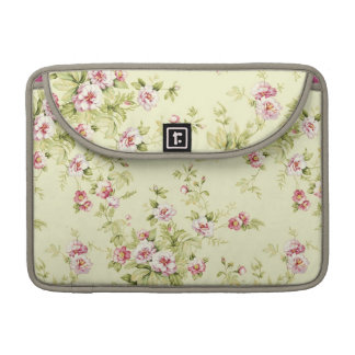 Vintage elegant pink flowers sleeve for MacBooks