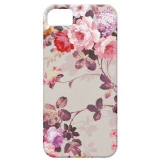 Vintage Elegant Pink Red Purple Roses Pattern iPhone 5 Cover