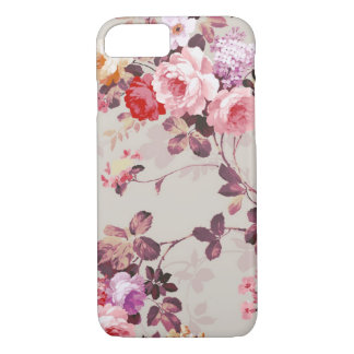 Vintage Elegant Pink Red Purple Roses Pattern iPhone 8/7 Case