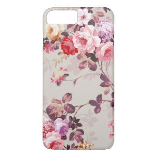 Vintage Elegant Pink Red Purple Roses Pattern iPhone 8 Plus/7 Plus Case
