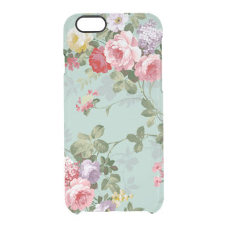 Vintage Elegant Pink Red Roses Pattern Clear iPhone 6/6S Case
