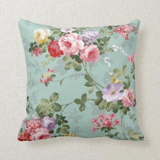 Vintage Elegant Pink Red Roses Pattern Cushion