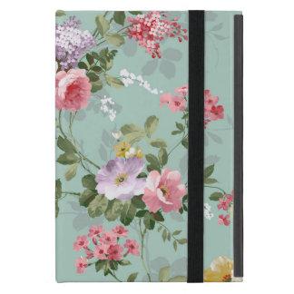 Vintage Elegant Pink Red Roses Pattern iPad Mini Case