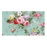Vintage Elegant Pink Red Roses Pattern Pack Of Standard Business Cards