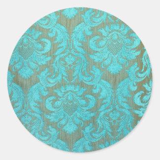 Vintage elegant turquoise gold victorian pattern stickers