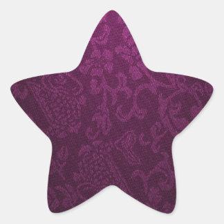vintage elegant  velvet lavender victorian pattern star sticker