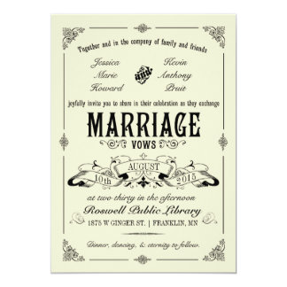 Vintage Elegant Wedding Invitation