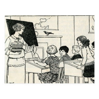 Vintage Elementary Grade School Teacher Postcard