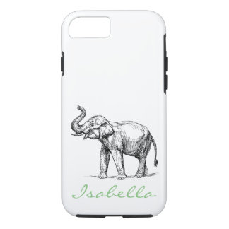 Vintage elephant add your name text elephants iPhone 7 case