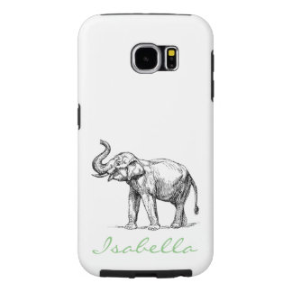 Vintage elephant add your name text elephants samsung galaxy s6 cases