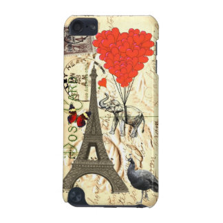 Vintage elephant and red heart balloons iPod touch 5G case
