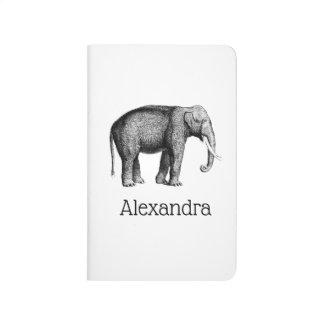 Vintage Elephant Drawing Journal