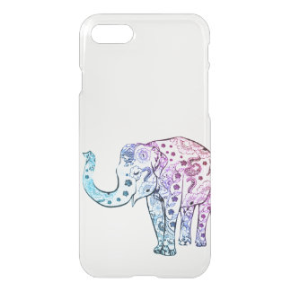 Vintage elephant drawing ombre trendy clear iPhone 8/7 case