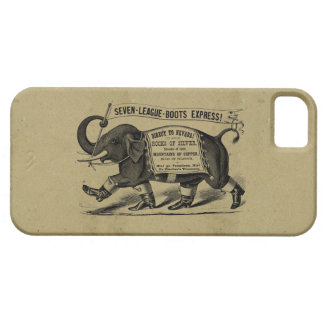 Vintage elephant graphic Victorian ad iPhone 5 Case