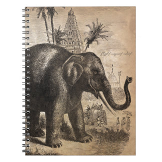 Vintage Elephant Mural Notebooks