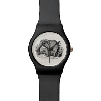 Vintage Elephant Personalized Elephants Animals Watch