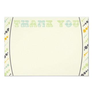Vintage Elephant Thank You Card Boy 9 Cm X 13 Cm Invitation Card