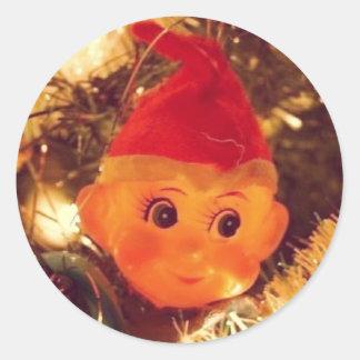 Vintage Elf Christmas Stickers