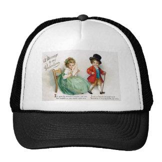 Vintage Ellen Clapsaddle Toddler Valentine Trucker Hats