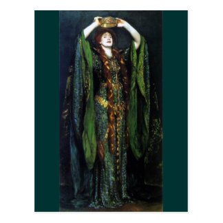 Vintage Ellen Terry as Lady Macbeth Postcard