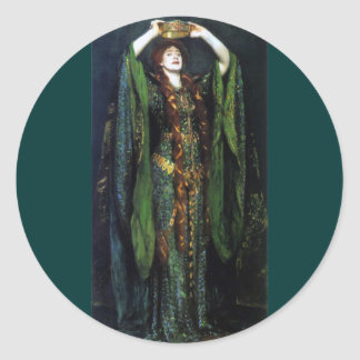 Vintage Ellen Terry as Lady Macbeth Round Sticker