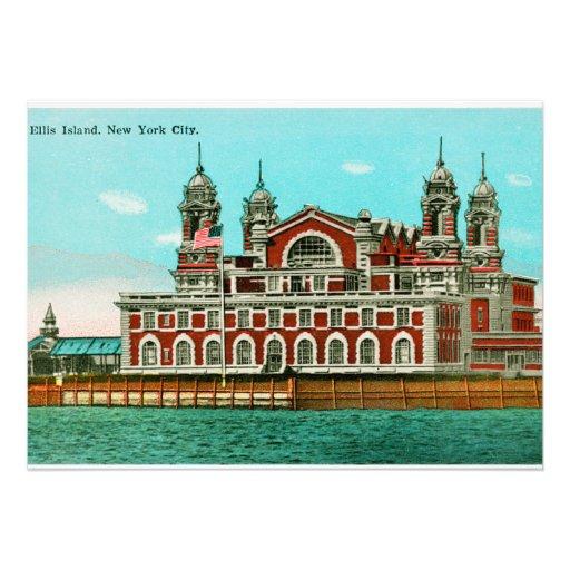 Vintage Ellis Island, New York City Invites
