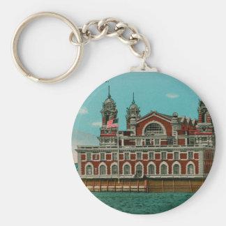 Vintage Ellis Island, New York City Key Ring