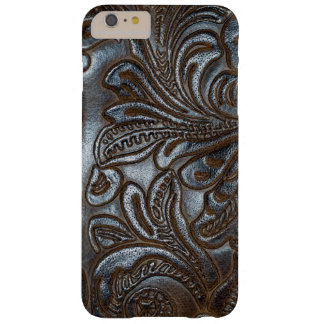 Vintage Embossed Brown Leather Barely There iPhone 6 Plus Case