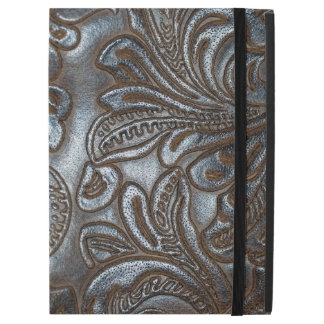 "Vintage Embossed Brown Leather iPad Pro 12.9"" Case"