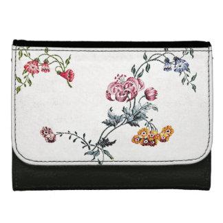 Vintage Embroidery Flowers Floral Ladies Wallet